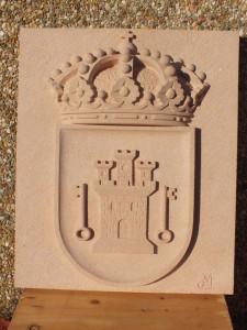 Escudo de Sepúlveda de 70 x 50 cm.