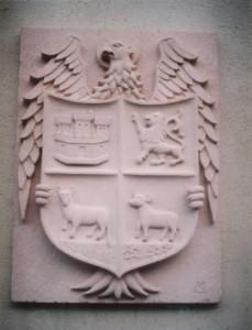 Escudo de la Mesta. De 1,20 m en Piedra Rosa Sepúlveda.