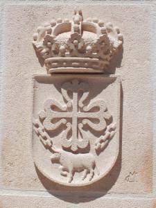 Escudo del Ayuntamiento de Borox (Toledo). 60 x 40 cm.
