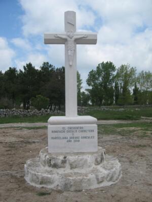 Crucero de Piedra de Campaspero. Cristo del Siglo XVI. Cozuelos de Fuentidueña (Segovia).
