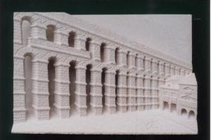 Acueducto de Segovia. Piedra Rosa Sepúlveda. Medidas 40 X 30 cm.