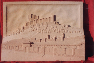 Castillo de Peñafiel (Valladolid). Medidas 90 X 65 cm. Piedra Rosa Sepúlveda.