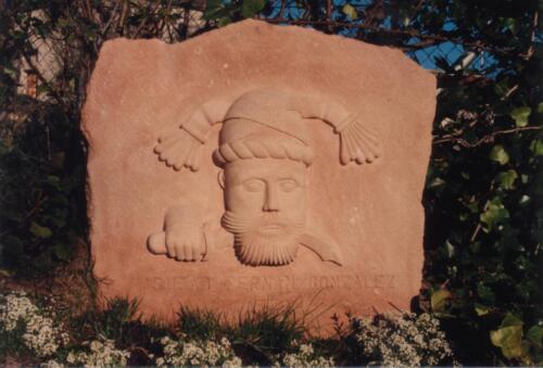 Abubad. Casa del Moro de Sepúlveda. Reproducción. Medidas 110 X 80 cm. Piedra Rosa Sepúlveda.