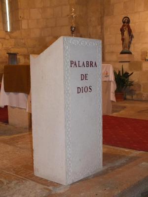 Ambón para iglesia de San Bartolomé en Sepúlveda (Segovia). Abujarda y filigrana cincelada.