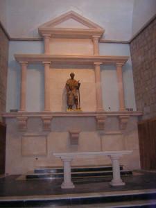 Retablo elaborado en Piedra Rosa Sepúlveda. Iglesia de San José Obrero en Segovia.