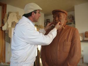 Modelado de arcilla del Sr. de Entrin (Badajoz).