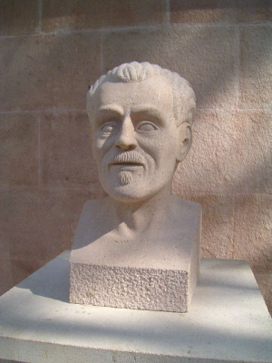 """Busto de Isaac de Frutos """"El Carterillo"""", Piedra Rosa Sepúlveda."""