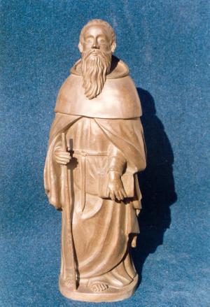 San Frutos, patrón de Segovia. 50 cm de alto. Bronce.