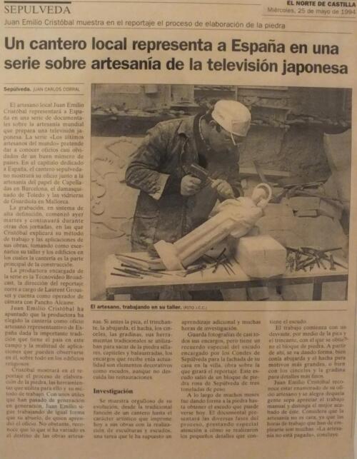 Periódico El Norte de Castilla. 25 de mayo de 1994.