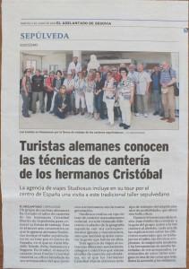 Periódico El Adelantado de Segovia - 4 de junio de 2019.