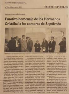 Periódico El Nordeste de Segovia - Mayo-Junio - 2001.