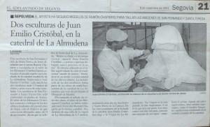 Periódico el Adelantado de Segovia - 8 de noviembre de 2001.