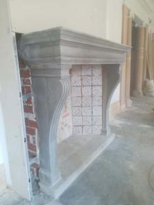 Restauración de chimenea en Casa-Palacio en Madrid.