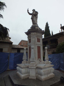Restauración de fuente pública en Alcalá de Henares (Madrid).