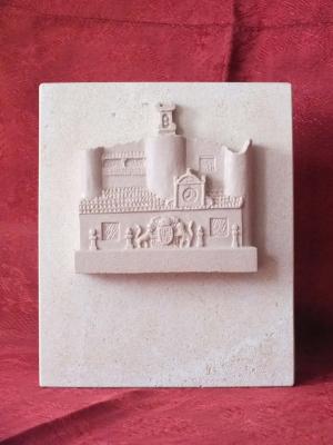 Obsequio de resina imitación Piedra Rosa Sepúlveda.