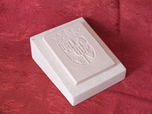 Trofeo de resina imitación Piedra Rosa Sepúlveda. Diputación Provincial de Segovia.