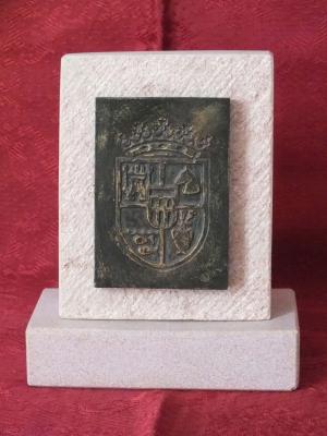 Trofeo de resina imitación bronce.  Diputación Provincial de Segovia.