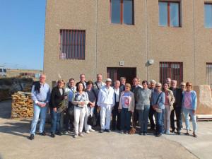 Turistas de la agencia alemana Studiosus en su visita a nuestro taller.