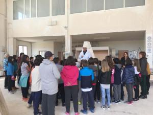 Visita al taller de los alumnos de plástica del CEIP Virgen de la Peña  de Sepúlveda.