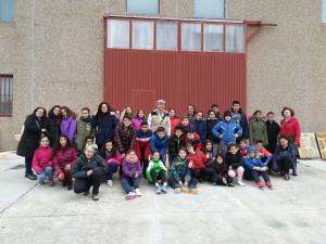 Visita al taller de los alumnos del CEIP Los Arenales de Cantalejo (Segovia).