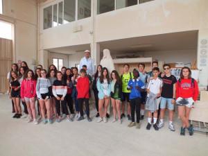 Visita al taller de los alumnos del Instituto de Enseñanza Secundaria José Luis San Pedro de Guadalajara.