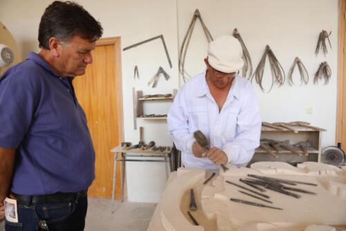 El Presidente de la Diputación Provincial de Segovia D. Francisco Vázquez visita nuestro taller.