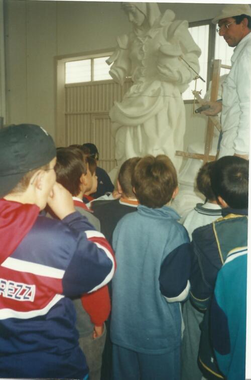 Alumnos de los Talleres de Verano del Museo de los Fueros de Sepúlveda.