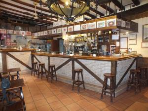 Barra del Bar Restaurante Casa Paulino de Sepúlveda.