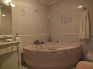 Baño completo con bañera de hidromasaje.