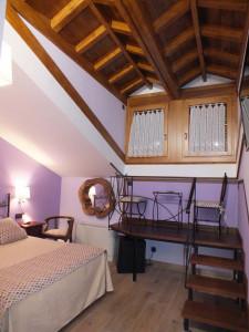 Dormitorio. Hotel Rural-Spa Puente del Duratón en Sepúlveda (Segovia).
