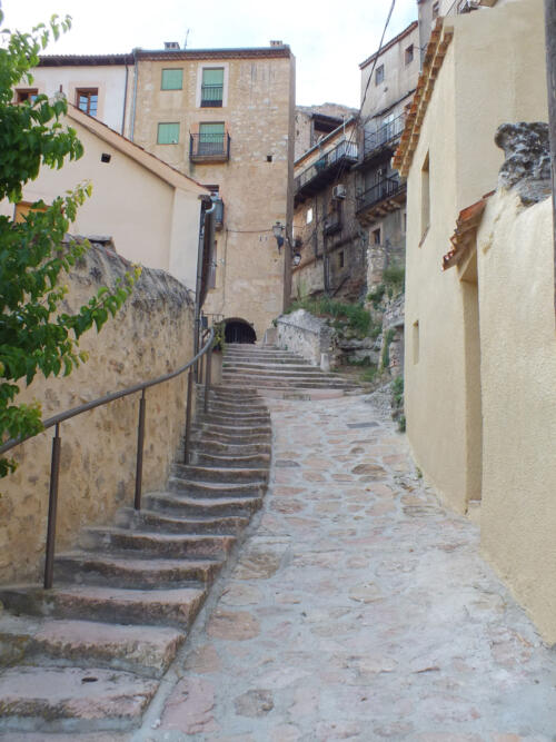 Pavimentación de la calle San Gil de Sepúlveda.