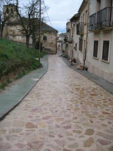 Pavimentación calle de S. Bartolomé de Sepúlveda.