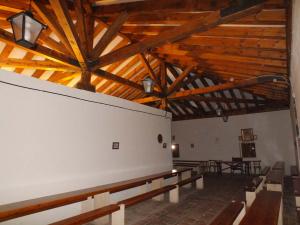 Interior de madera de la Casa de Hermandad de la Virgen de la Peña de Sepúlveda.