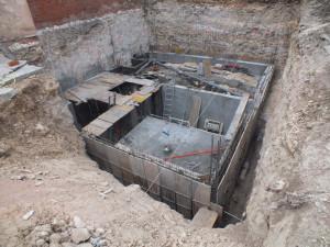 Excavación y cimentación para hotel rural-Spa en Sepúlveda.