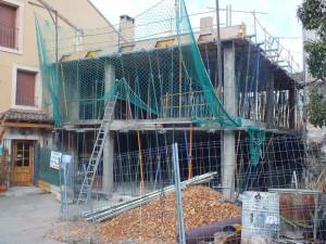 Estructura de hormigón para Hotel Rural-Spa Puente del Duratón en Sepúlveda (Segovia).