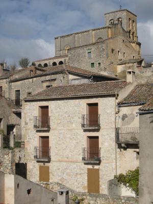 Edificio construido en Sepúlveda (Segovia).